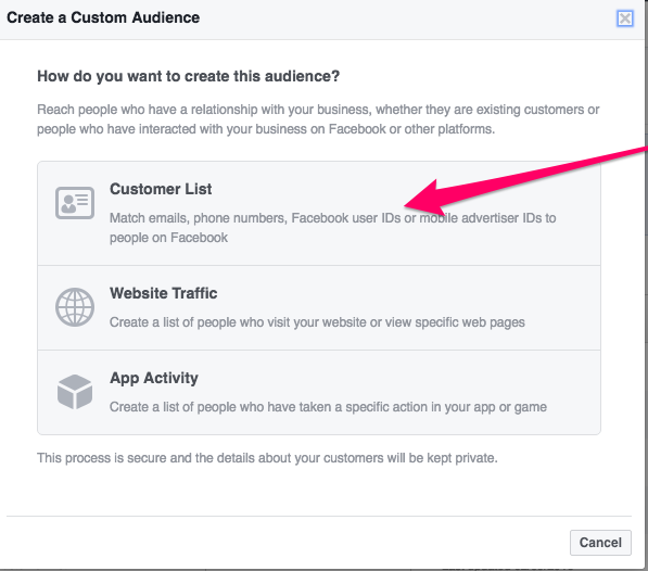 How to analyze and segment an email list with Facebook Audience